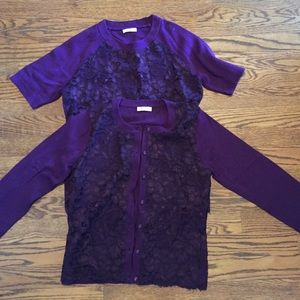 Shoshanna Sweaters - Shoshanna sweater set in purple
