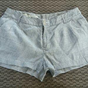 Madewell chambray ramie shorts