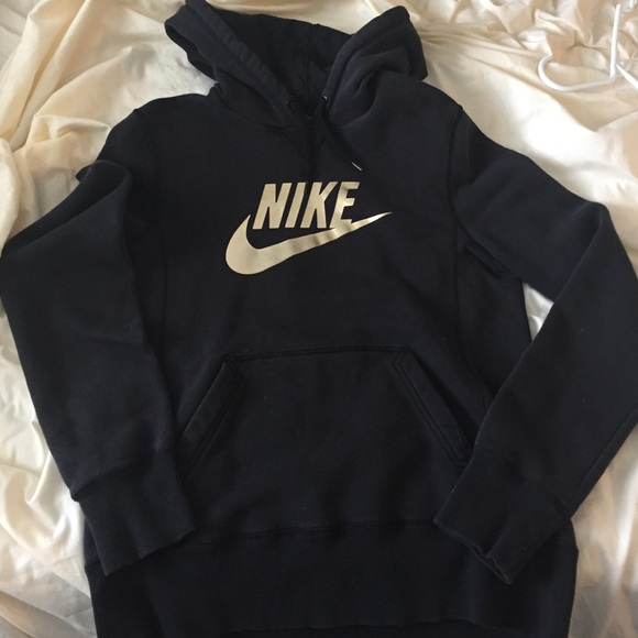 Black and gold Women's Nike Hoodie