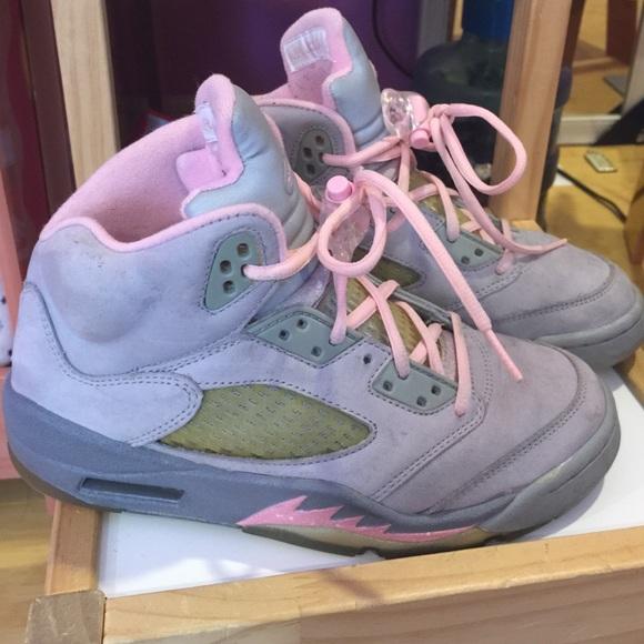 on sale 95685 d5bbd Pink/grey Jordan 5s v