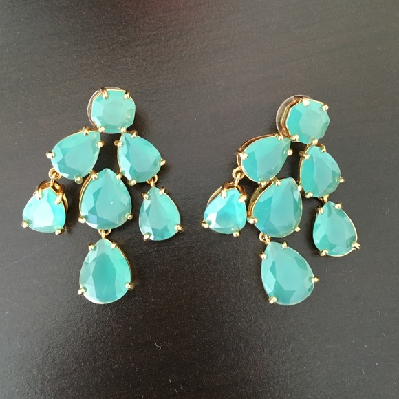 kate spade Jewelry - Kate Spade turquoise chandelier earrings
