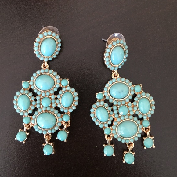 Jewelry - Turquoise dangly chandelier earrings