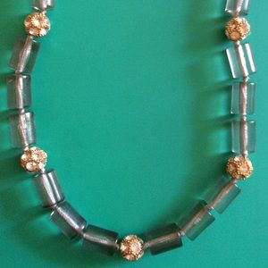 J.Crew Bead and Crystal Necklace