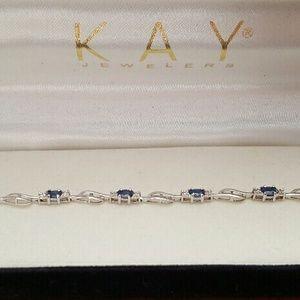 Kay Jewelers Jewelry - Kay jewelers 10k white gold Sapphire bracelet
