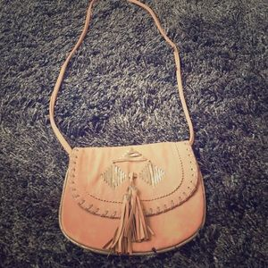 Dusty pink American Eagle Outfitters crossbody bag