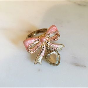 Betsey Johnson Pink Bow Ring