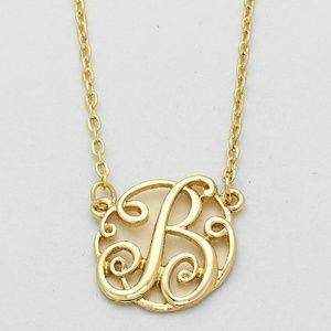 Jewelry - 'B' MONOGRAM CIRCLE SCRIPT PENDANT NECKLACE
