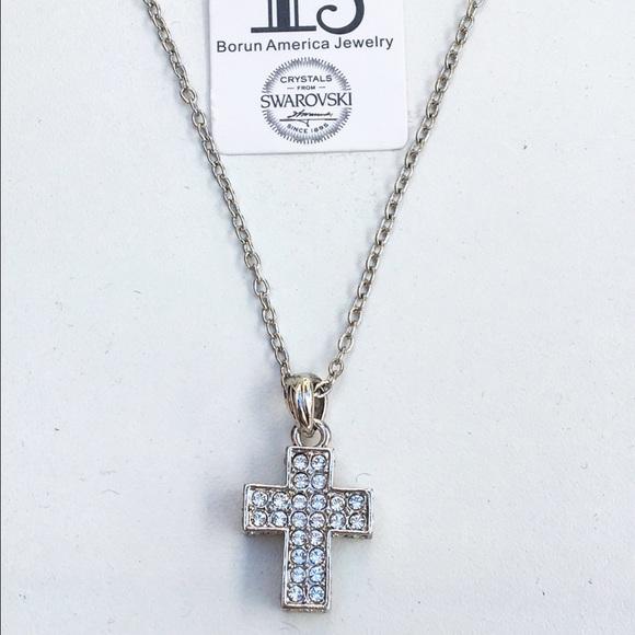 a3207579e0ffe Cross necklace made with Swarovski Crystals Boutique