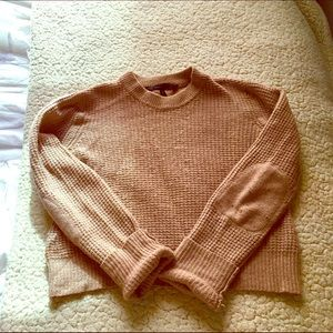 BcbgMaxazria tan cropped sweater