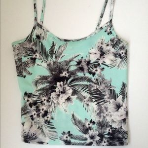 Tropical Mint colored crop top