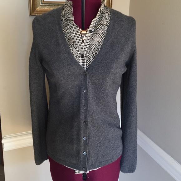 63% off Ann Taylor Sweaters - NWT Ann Taylor Dark Grey Cashmere ...