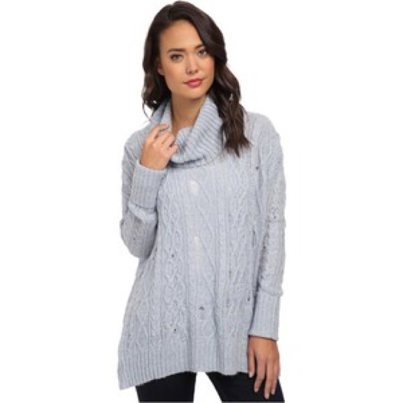 82% off Free People Sweaters - FREE PEOPLE light blue cowl neck ...