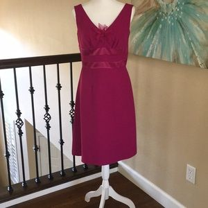 Amanda Smith pink shift dress w removable flower