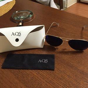 Aqs Accessories - AQS Aviator Mirrored Sunglasses