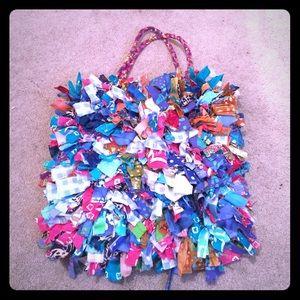 Handbags - UNIQUE rainbow fabric bag from Antigua! 