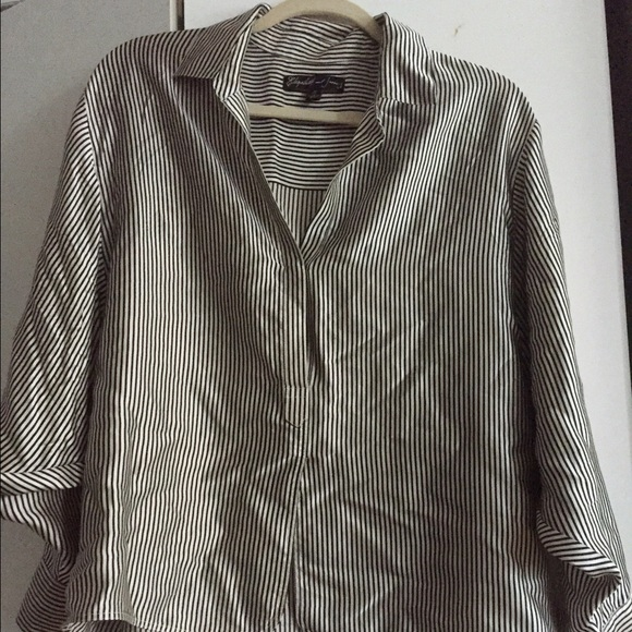 3ade2ef0e202db Elizabeth and James Tops - Elizabeth and James Striped Silk Blouse size S