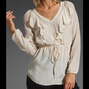 Rebecca Taylor Tops - Rebecca Taylor polka dot silk blouse