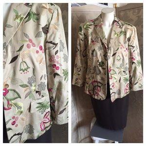 Jones New York Jackets & Blazers - JONES NEW YORK Silk Tapestry Jacket Blazer