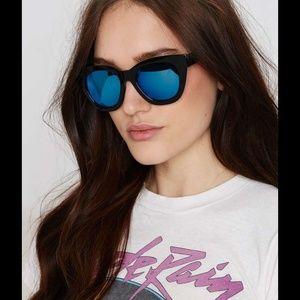 76b4064d7548 Quay Australia Accessories - Black purple large cat eye paparazzi sunglasses