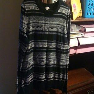 A chic black MERONA top in  XL/TG