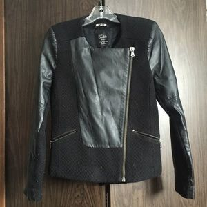 Zara Faux Leather/Sweater Jacket