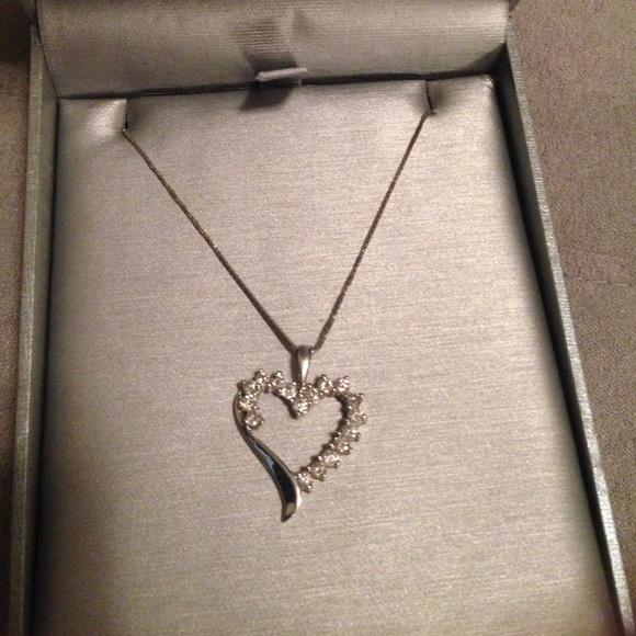 34 off zales jewelry diamond and white gold pendant on for Where is zales jewelry