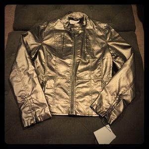 NWT Calvin Klein Graphite Moto jacket!