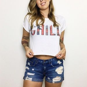 The Laundry Room CHILL Crop Top Tee