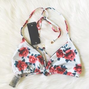 Wildfox Other - Wildfox Gypsy Flowers Reversible Swim String Top