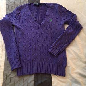 Purple Ralph Lauren sweater