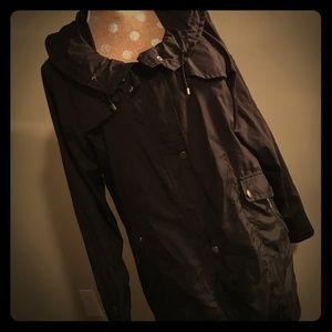 Cole Haan black rain coat