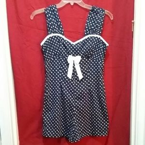 f5a3b49e0a Hell Bunny Shorts - Hell Bunny Playsuit Romper Pinup Rockabilly