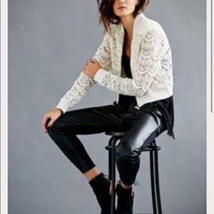 Free People lace crop jacket