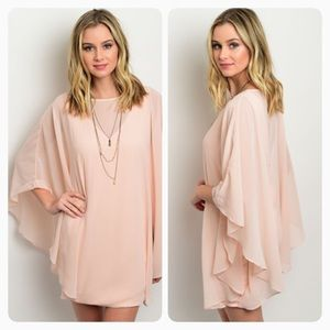 Blush pink batwing dress