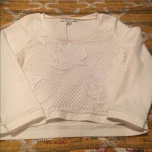 Lauren Conrad crochet blouse, NWT, size small