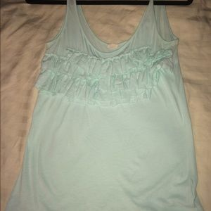 J. Crew Tops - J.Crew Mint Ruffle Tank Top, Small
