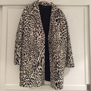 Zara snow leopard top coat