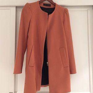 Spring is here!  Zara top coat in peach, size XS