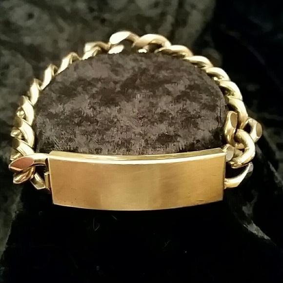 1970s Speidel David Gold Metal ID Bracelet