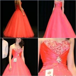 Mori Lee Dresses & Skirts - Flamingo pink prom dress MAKE ME OFFERS!