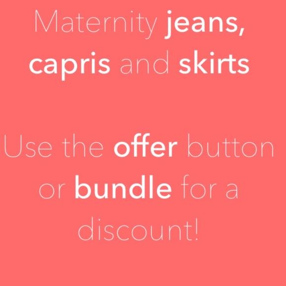 Jeans - Maternity bottoms below