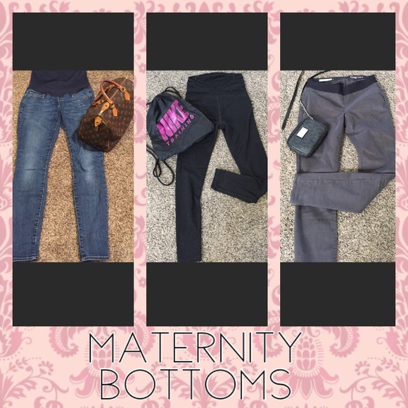 Denim - Maternity bottoms below