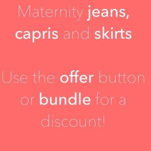 Denim - Maternity bottoms below