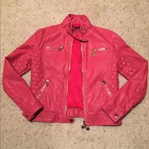TWIN-SET Jackets & Blazers - TWIN-SET SIMONA BARBIERI Pink Faux Leather Jacket