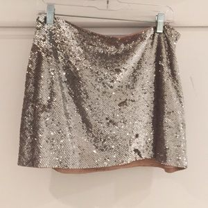 Haute Hippie Dresses & Skirts - Haute Hippie silver sequins embellished mini, M