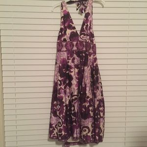 NWT Adrianna Papel Purple Print Halter Dress