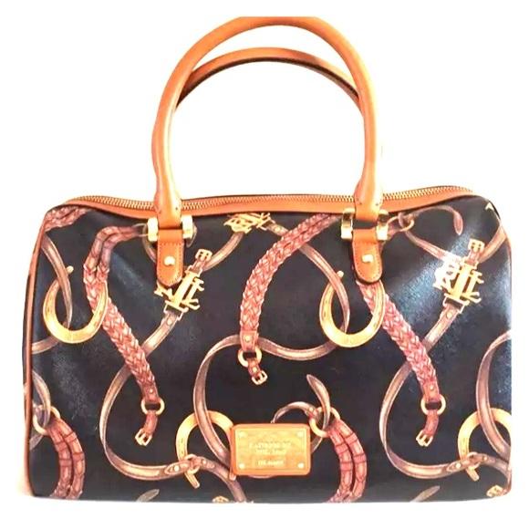 bde9747394 👜LRL Ralph Lauren Barrel Handbag Purse LIKE NEW. M 56c149c6feba1f2a8d05896d