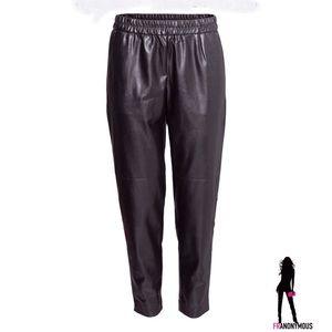 H&M Pants - Black Leather Pants 6, 8, 10