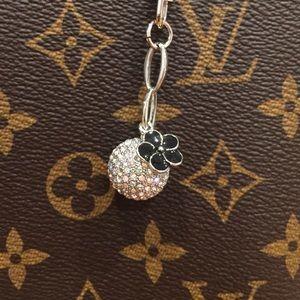 Accessories - NEW Disco Flower Bag Charm Keychain