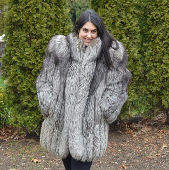 90% off saga Jackets & Blazers - SOLD! SAGA Silver Fox Fur Coat ...